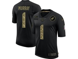 Mens Nfl Arizona Cardinals #1 Kyler Murray Black Camo Number Nike 2020 Salute To Service Limited Jersey