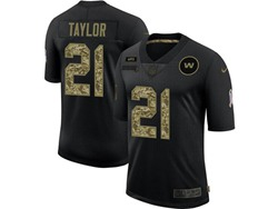 Mens Nfl Washington Redskins #21 Sean Taylor Black Camo Number Nike 2020 Salute To Service Limited Jersey