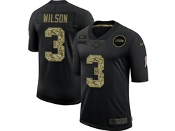 Mens Nfl Seattle Seahawks #3 Russell Wilson Black Camo Number Nike 2020 Salute To Service Limited Jersey