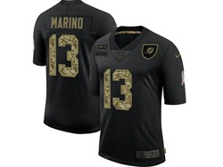 Mens Miami Dolphins #13 Dan Marino Black Camo Number Nike 2020 Salute To Service Limited Jersey