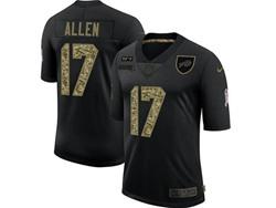Mens Nfl Buffalo Bills #17 Josh Allen Black Camo Number Nike 2020 Salute To Service Limited Jersey