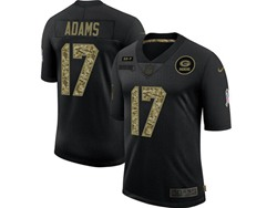 Mens Nfl Green Bay Packers #17 Davante Adams Black Camo Number Nike 2020 Salute To Service Limited Jersey