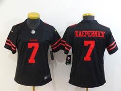 Women San Francisco 49ers #7 Colin Kaepernick Black Vapor Untouchable Limited Nike Jersey