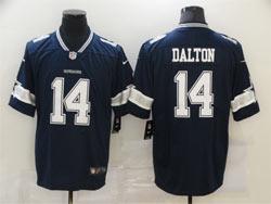 Mens Nfl Dallas Cowboys #14 Andy Dalton Blue Vapor Untouchable Limited Nike Jersey