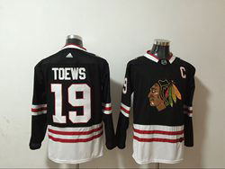 Mens Nhl Chicago Blackhawks #19 Jonathan Toews Black 2th Adidas Jersey C Patch