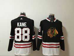 Mens Nhl Chicago Blackhawks #88 Patrick Kane Black 2th Adidas Jersey