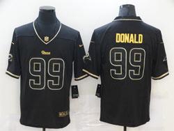 Mens Nfl Los Angeles Rams #99 Aaron Donald Black Golden Vapor Untouchable Limited Nike Jersey