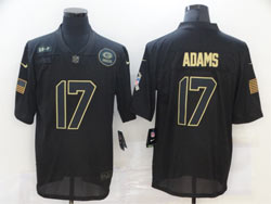 Mens Nfl Green Bay Packers #17 Davante Adams Black 2020 Nike Salute To Service Limited Jersey