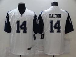 Mens Nfl Dallas Cowboys #14 Andy Dalton White Color Rush Vapor Untouchable Limited Nike Jersey