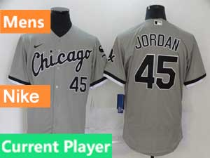 Mens Nike 2020 Chicago White Sox Gray Flex Base Current Player Jersey