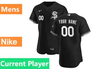 Mens Nike 2020 Chicago White Sox Black Flex Base Current Player Alternate Jersey