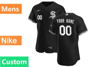 Mens Nike 2020 Chicago White Sox Custom Made Black Flex Alternate Jersey