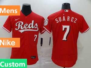 Mens Nike 2020 Cincinnati Reds Custom Made Flex Base Red Jersey