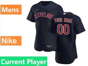 Mens Nike 2020 Cleveland Indians Flex Base Current Player Black Alternate Jersey