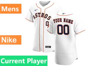 Mens Nike 2020 Mlb Houston Astros Flex Base Current Player White Home Jersey