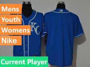 Mens Women Youth Mlb Kansas City Royals Current Player Blue Flex Base 2020 Nike Jersey