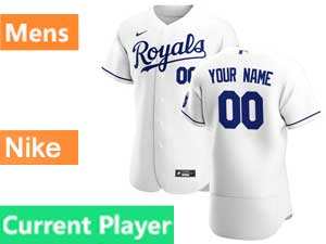 Mens Women Youth Mlb Kansas City Royals Current Player White Flex Base 2020 Nike Jersey