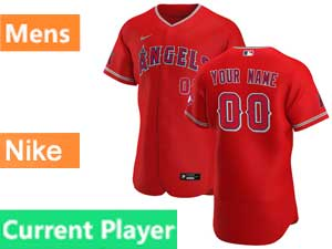 Mens Nike 2020 Los Angeles Angels Current Player Flex Base Red Alternate Jersey