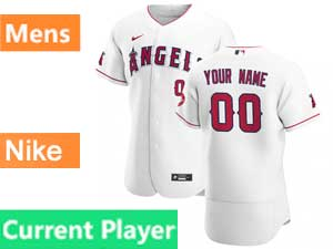 Mens Nike 2020 Los Angeles Angels Current Player Flex Base White Home Jersey