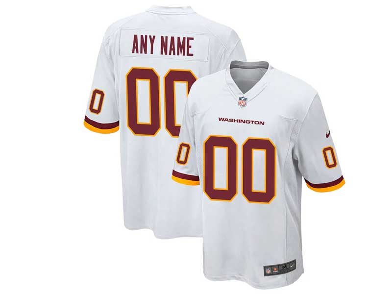 Mens Women Youth Nfl Washington Football Team Current Player Nike White Game Jersey