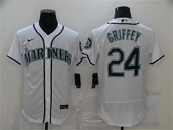 Mens Mlb Seattle Mariners #24 Ken Griffey Jr White Flex Base Nike Jersey