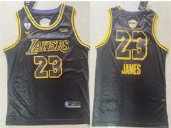 Mens Nba Los Angeles Lakers #23 Lebron James Black Snake Skin 2020 Finals Swingman Jersey