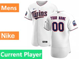 Mens Mlb Minnesota Twins Current Player Nike 2020 White Home Flex Base Jersey