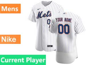 Mens New York Mets  Current Player White Home Nike 2020 Flex Base Jersey