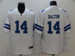 Mens Nfl Dallas Cowboys #14 Andy Dalton White Vapor Untouchable Limited Nike Jersey