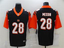 Mens Nfl Cincinnati Bengals #28 Joe Mixon Black Vapor Untouchable Limited Nike Jersey