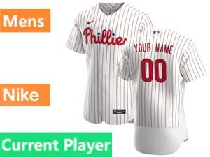 Mens Philadelphia Phillies Current Player Flex Base Nike 2020 White Home Jersey