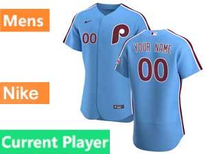 Mens Philadelphia Phillies Current Player Flex Base Nike 2020 Blue Alternate Jersey