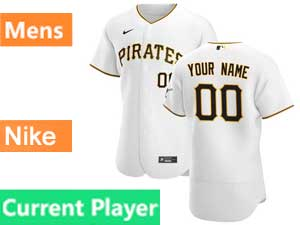 Mens Pittsburgh Pirates Current Player Flex Base 2020 Nike White Home Jersey