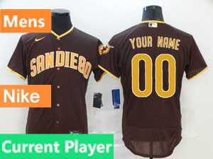 Mens San Diego Padres Current Player 2020 Nike Brown Road Flex Base Jersey