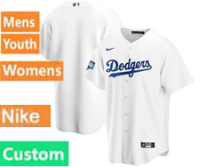 Mens Womens Youth Mlb Los Angeles Dodgers Custom Made White Nike 2020 World Series Champions Cool Base Jersey