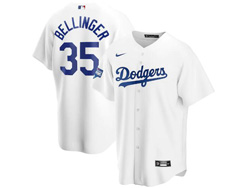 Mens Mlb Los Angeles Dodgers #35 Cody Bellinger White Nike 2020 World Series Champions Cool Base Jersey