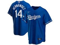 Mens Mlb Los Angeles Dodgers #14 Enrique Hernandez Blue Nike 2020 World Series Champions Cool Base Jersey