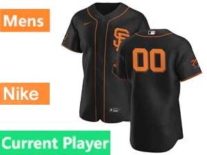 Mens Mlb San Francisco Giants Current Player Flex Base Nike 2020 Black Alternate Jersey