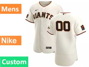 Mens Mlb San Francisco Giants Custom Made Flex Base Nike 2020 Cream Home Jersey