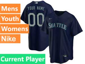 Mens Womens Youth Seattle Mariners Current Player Nike 2020 Blue Alternate Cool Base Jersey