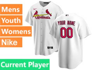 Mens Womens Youth St. Louis Cardinals Current Player Nike 2020 White Home Cool Base Jersey