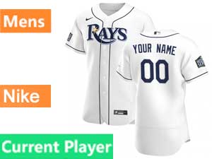 Mens Mlb Tampa Bay Rays Current Player Nike 2020 White Home Flex Base 2020 World Series Champions Jersey