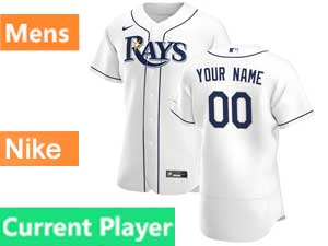 Mens Mlb Tampa Bay Rays Current Player Nike 2020 White Home Flex Base  Jersey