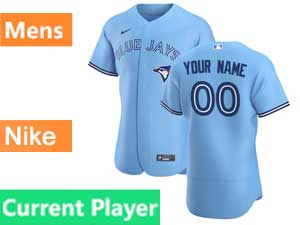 Mens Toronto Blue Jays Current Player Nike 2020 Flex Base Light Blue Alternate Jersey