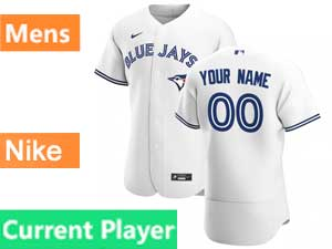 Mens Toronto Blue Jays Current Player Nike 2020 Flex Base White Home Jersey