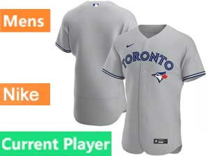 Mens Toronto Blue Jays Current Player Nike 2020 Flex Base Gray Road Jersey