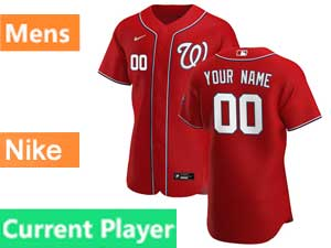Mens Mlb Washington Nationals Current Player Nike 2020 Red Alternate Flex Base Jersey