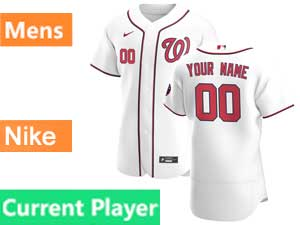 Mens Mlb Washington Nationals Current Player Nike 2020 White Home Flex Base Jersey