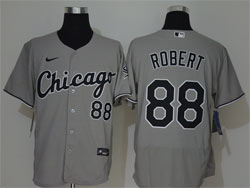 Mens Mlb Chicago White Sox #88 Luis Robert Gray Nike Flex Base Jersey