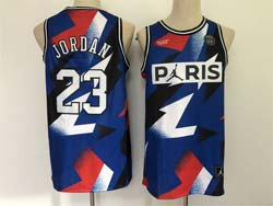 Mens Nba Chicago Bulls #23 Michael Jordan And Paris Blue Jointly Swingman Jersey